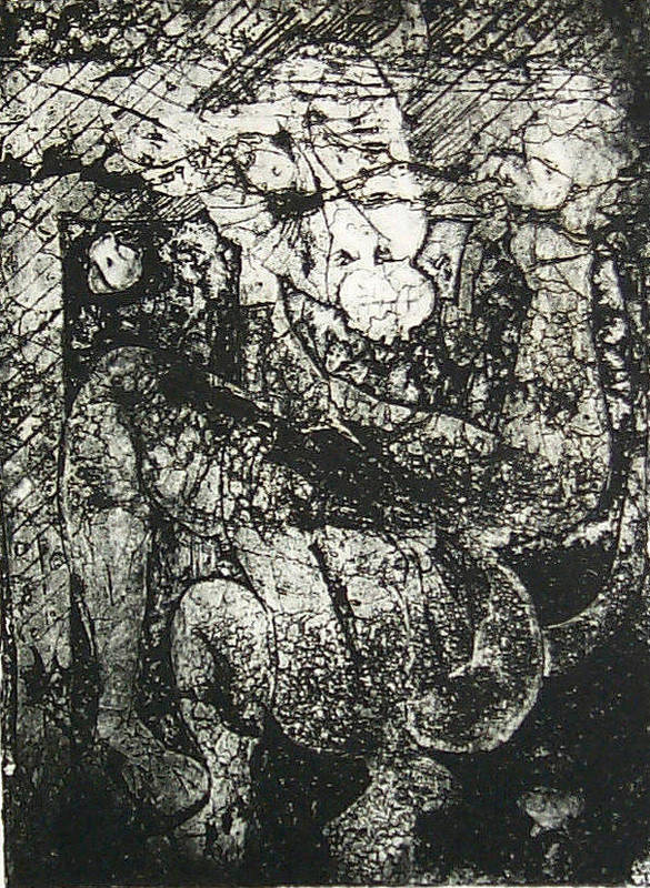 Etching Poster featuring the print Destroy Plate by Thomas Valentine