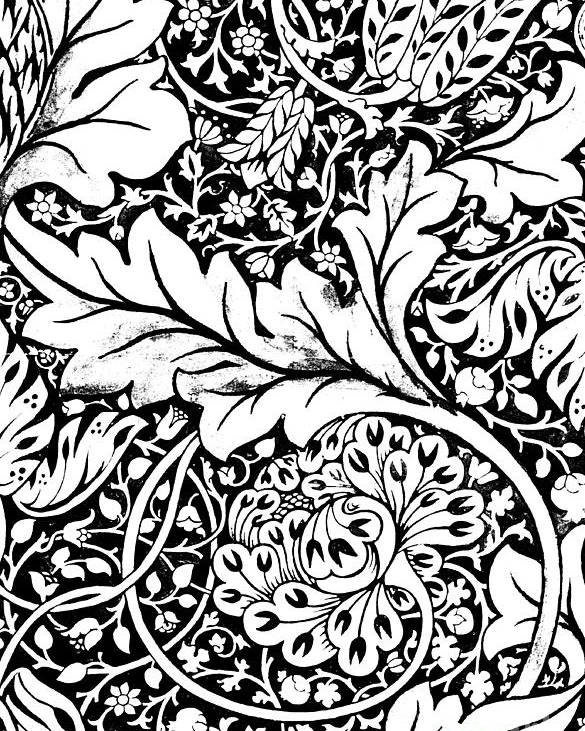 Detail Of A Vintage Textile Pattern Design By William