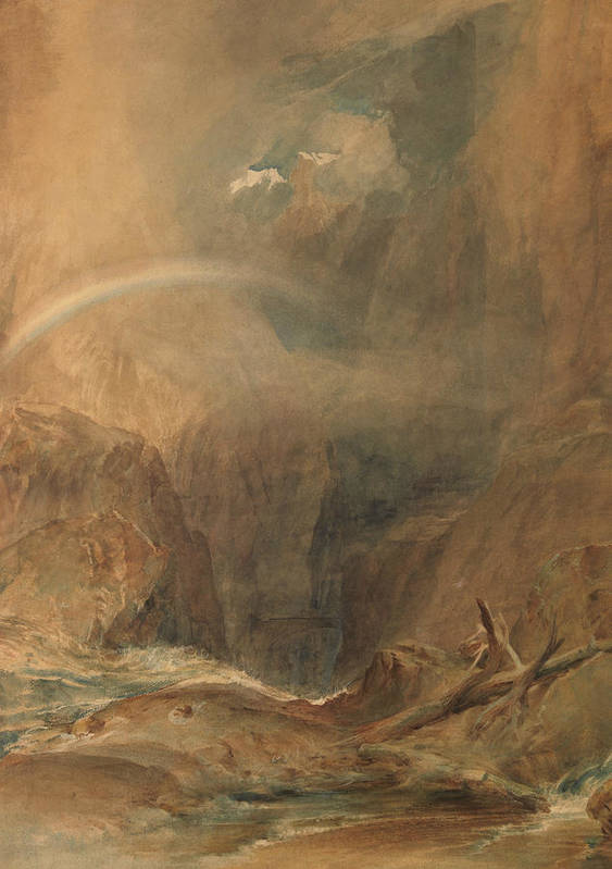 19th Century Art Poster featuring the painting Devil's Bridge Saint Gotthard's Pass by Joseph Mallord William Turner