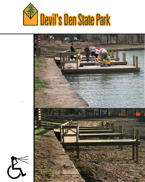 Poster featuring the photograph Devils Den State Park Time-lapse by Curtis J Neeley Jr