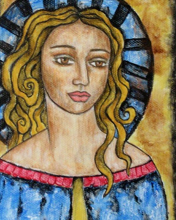Paintings Poster featuring the painting Devonee by Rain Ririn