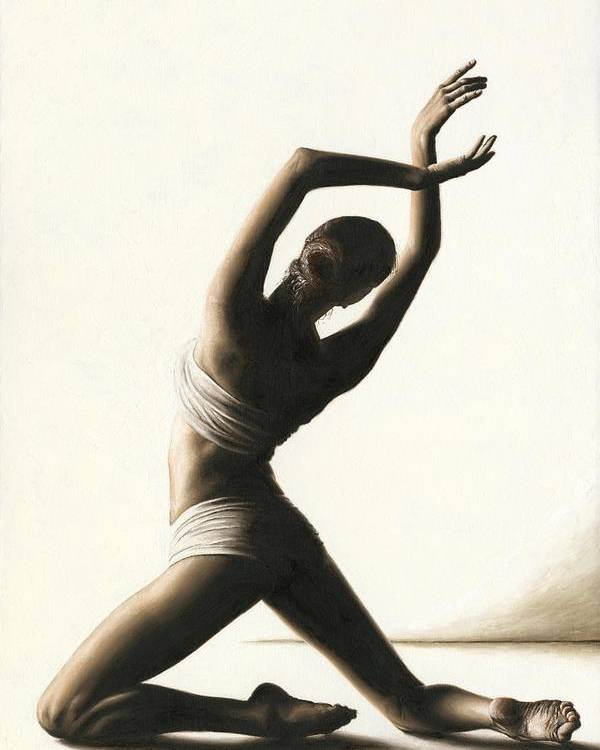 Dancer Poster featuring the painting Devotion To Dance by Richard Young