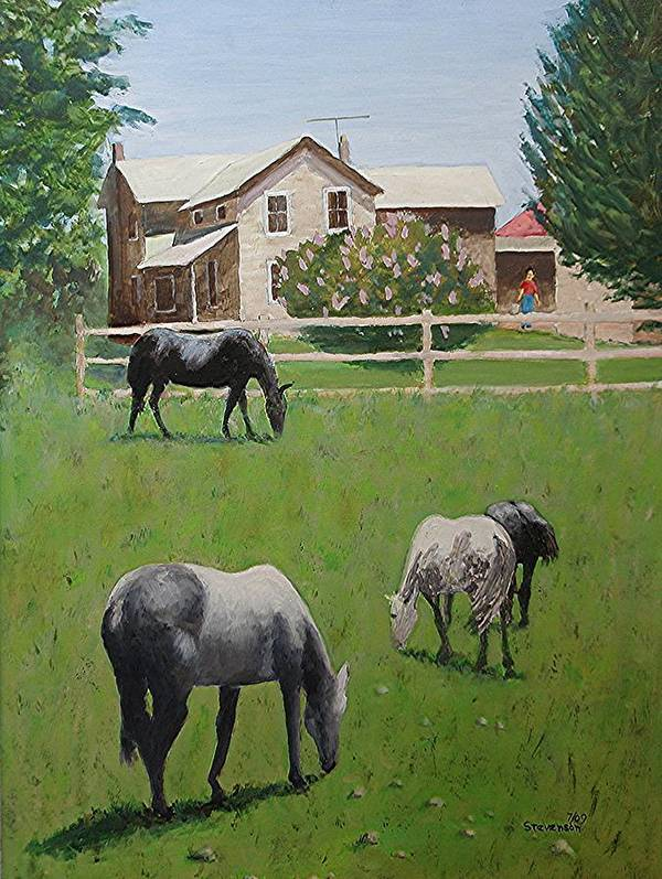 Horses Poster featuring the painting Dibble's by Joseph Stevenson