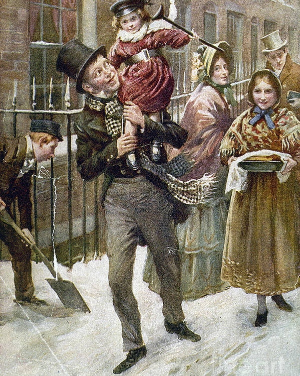 1920 Poster featuring the painting Dickens: A Christmas Carol by Granger