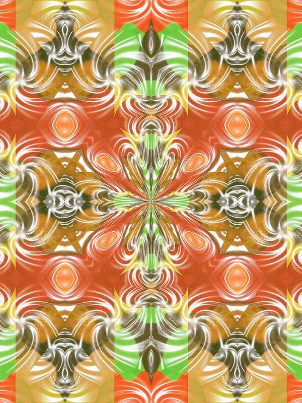 Abstract Digital Art Poster featuring the photograph Digital Colors by Guillermo Mason