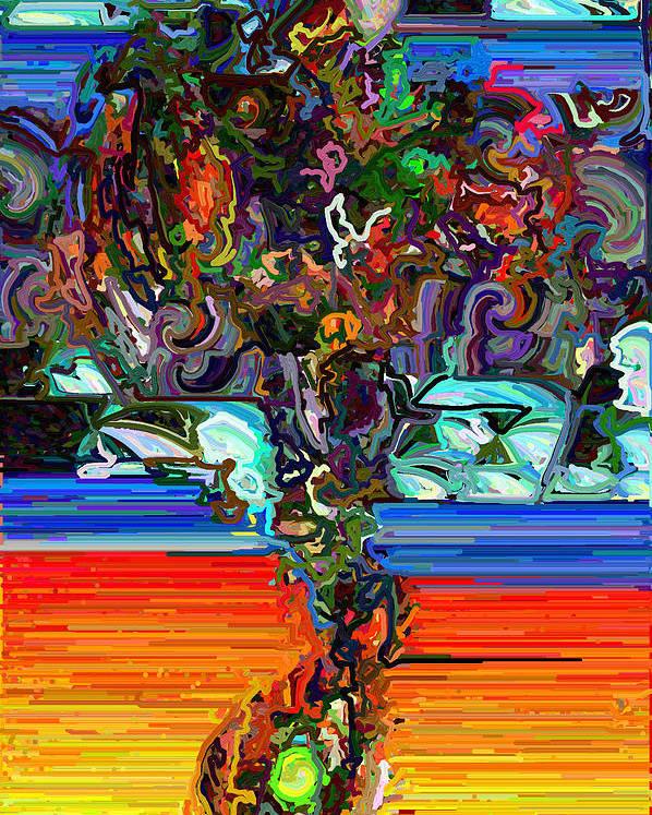 Modern Poster featuring the digital art Digital Flowers by Paul Gavin