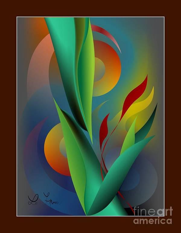 Digital Garden Poster featuring the digital art Digital Garden Dreaming by Leo Symon