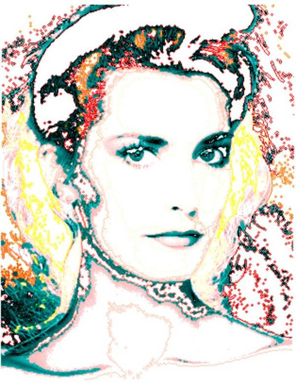 Digital Poster featuring the digital art Digital Self Portrait by Kathleen Sepulveda