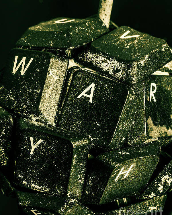 War Poster featuring the photograph Disarming Of Weaponiised Words by Jorgo Photography - Wall Art Gallery