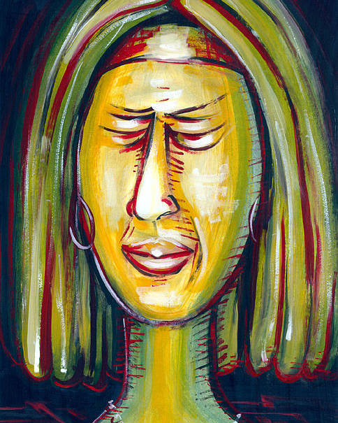 Oil Paper Figurative Abstract Portray Impressionism Colrfull Decorative Modern Art Original Painting Poster featuring the painting Disgustfull by Jose Julio Perez
