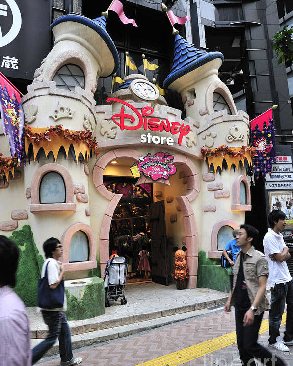 Japan Poster featuring the photograph Disney Store Tokyo Japan by Andy Smy