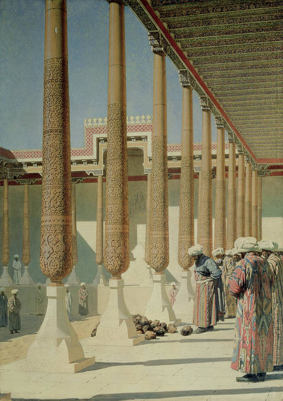 Bal172719 Poster featuring the painting Display Of Trophies by Vasili Vasilievich Vereshchagin