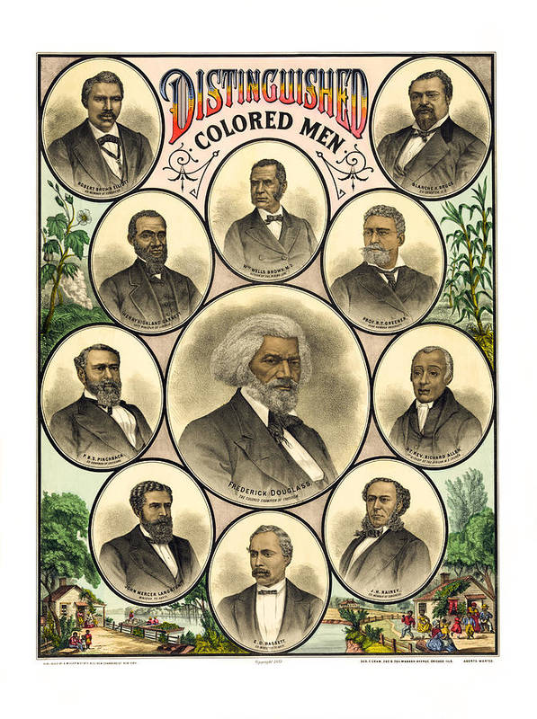 distinguished Colored Men Poster featuring the photograph Distinguished Colored Men  1883 by Daniel Hagerman
