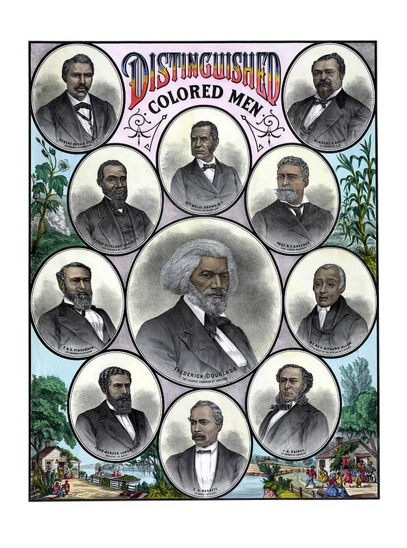 Black History Poster featuring the painting Distinguished Colored Men by War Is Hell Store
