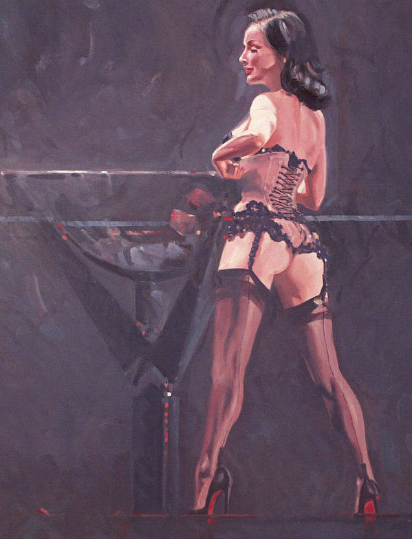 Female Form Poster featuring the painting Dita Von Teese 5 by Charles Willmott