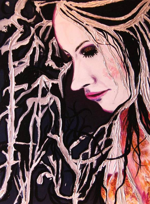 Diva Poster featuring the painting Diva Sarah by Meshal Hardie