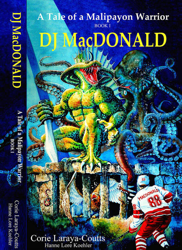 Dj Macdonald Poster featuring the painting Dj Macdonald Book Cover by Hanne Lore Koehler