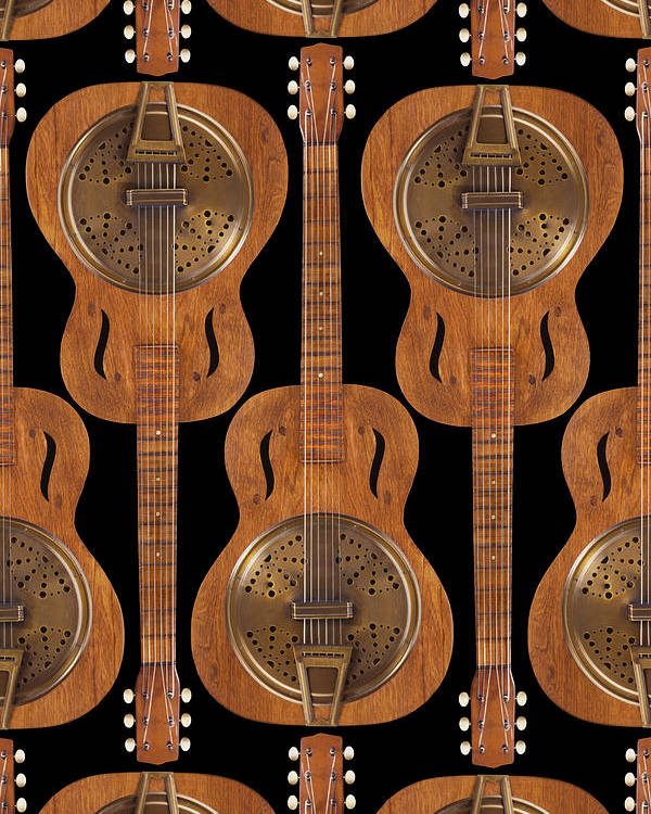 Abstract Poster featuring the photograph Dobro 4 by Mike McGlothlen