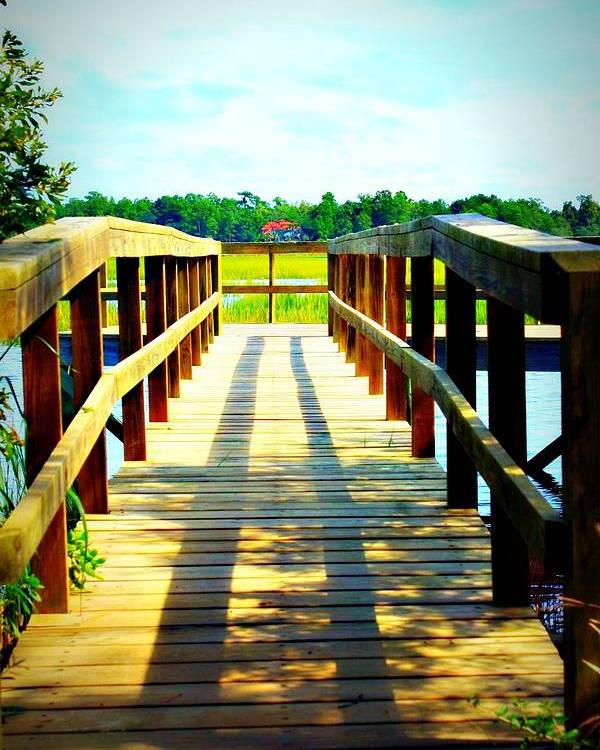 Landscape Poster featuring the photograph Dock On Alston Creek by Jill Tennison