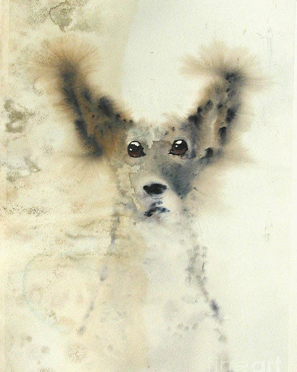 Dog Poster featuring the painting dog by Sarah Goodbread
