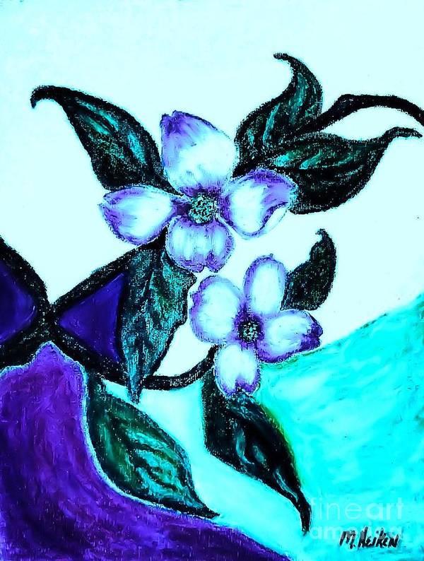 Pastels Poster featuring the digital art Dogwood Purple by Marsha Heiken