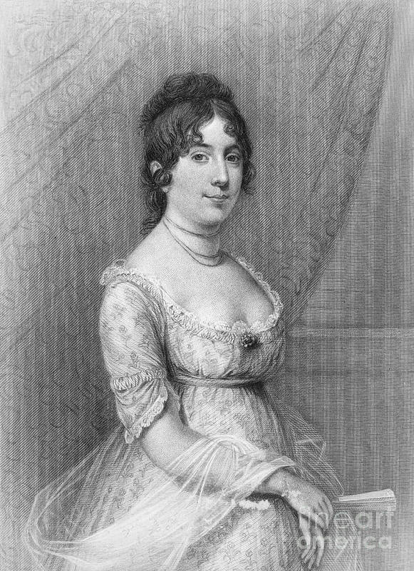 19th Century Poster featuring the photograph Dolley Madison (1768-1849) by Granger