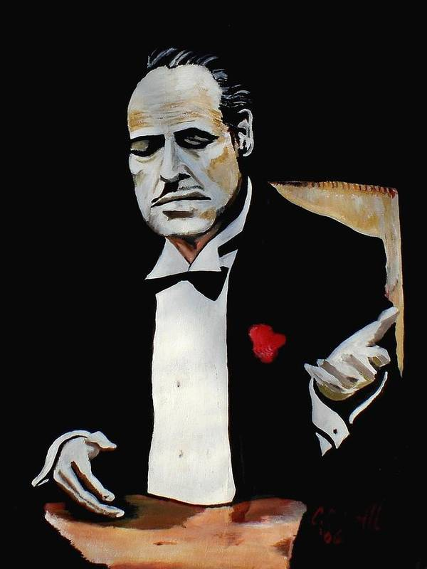 Godfather Poster featuring the painting Don by Colin O neill