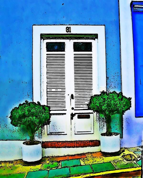 Door Poster featuring the photograph Door 61 by Perry Webster