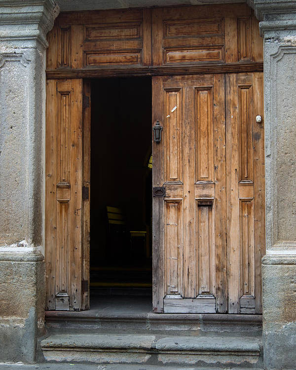 Door Poster featuring the photograph Door Entrance To Church In Guatemala by Douglas Barnett