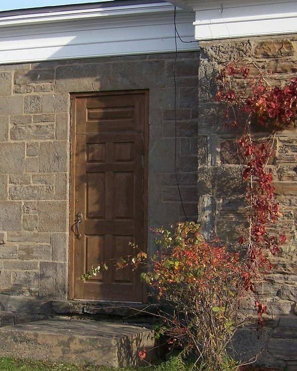 Stone Poster featuring the photograph Doorway At The Stone House - Photograph by Jackie Mueller-Jones
