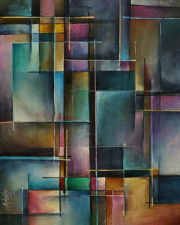 Abstract Poster featuring the painting Doorway to... by Michael Lang