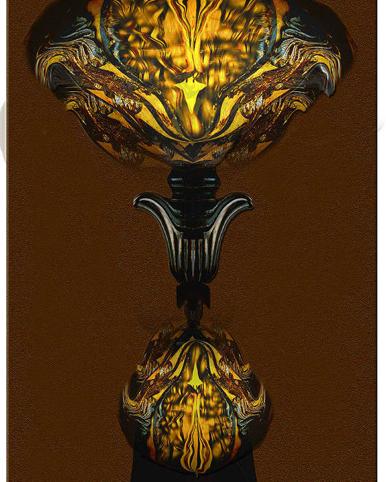 A Double Lamp Of Unusual Design Poster featuring the digital art Double Lamp by Jerry White