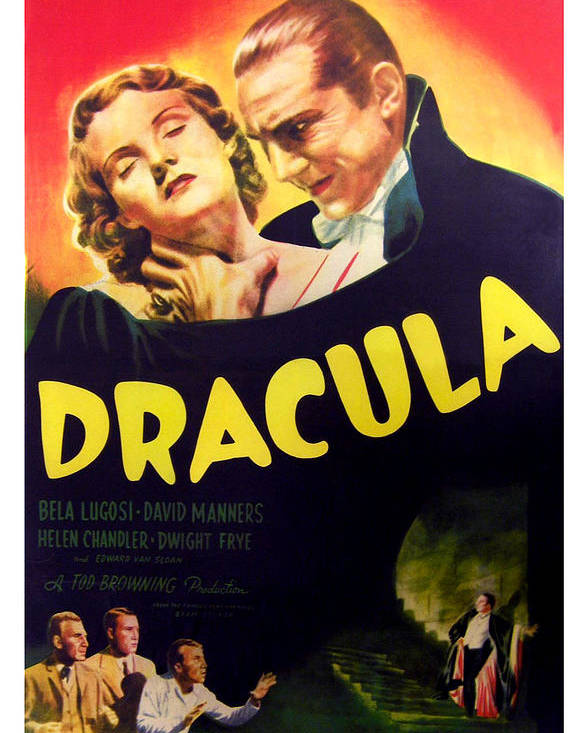 1930s Movies Poster featuring the photograph Dracula, Top From Left Helen Chandler by Everett
