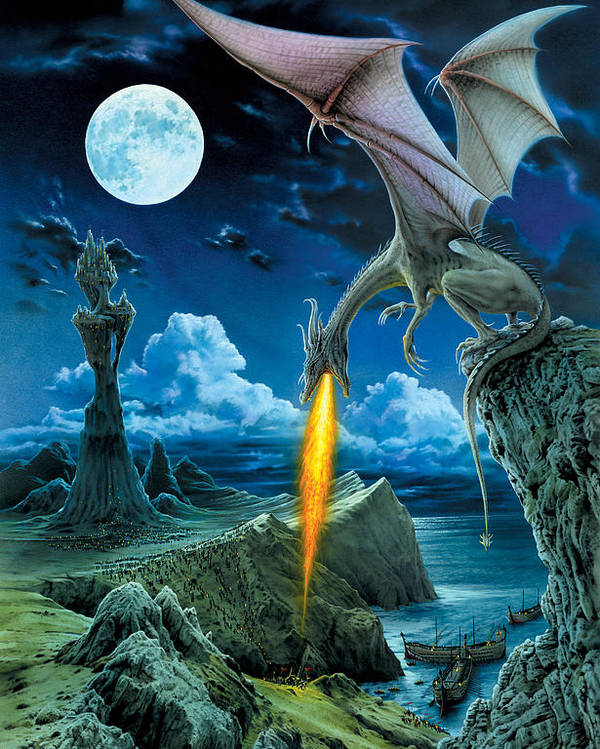 Dragon Poster featuring the photograph Dragon Spit by The Dragon Chronicles - Robin Ko