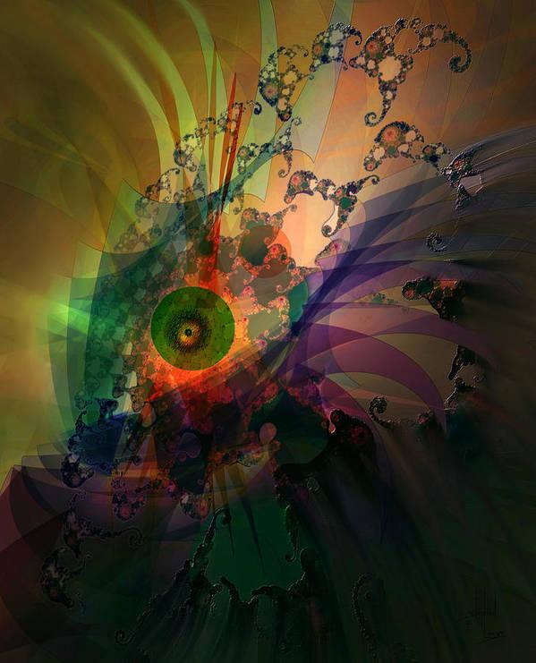 Dragon Poster featuring the digital art Dragon Wisdom Eye by Stephen Lucas