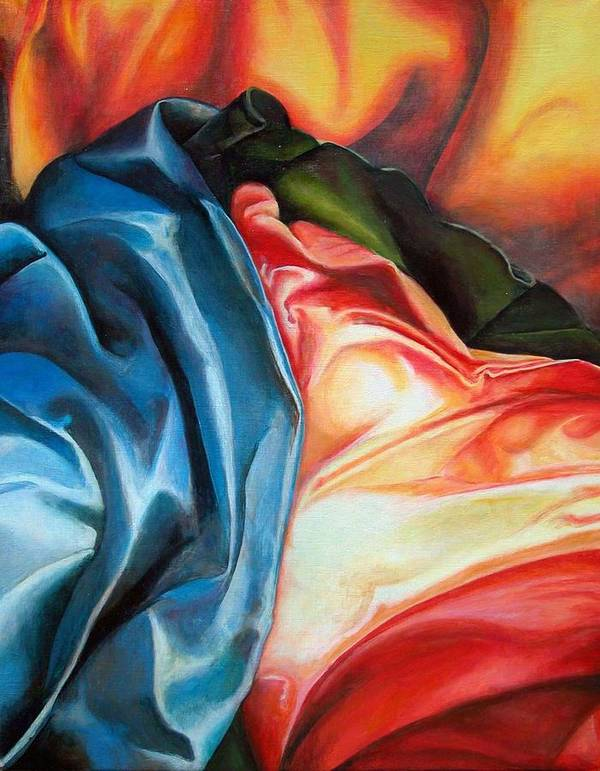 Drap Poster featuring the painting Drape by Muriel Dolemieux