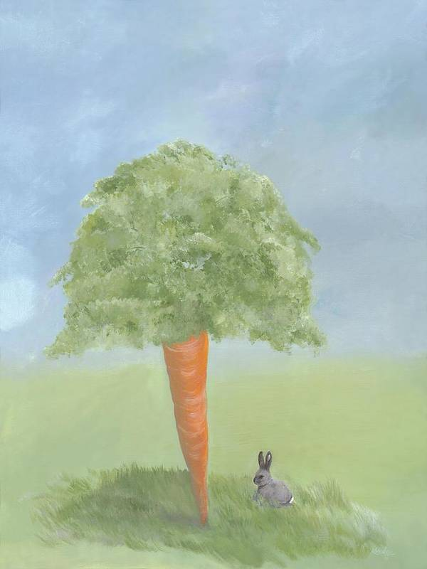 Bunny Poster featuring the painting Dream Big by Kimberly Hodge