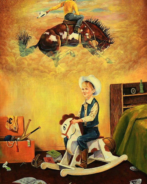 Horses Poster featuring the painting Dreamin by Duane R Probus
