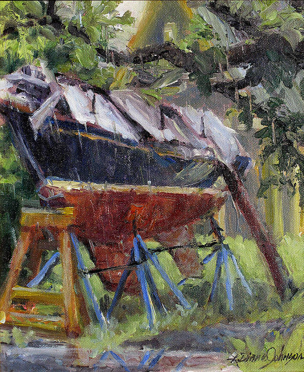 Sail Boats Poster featuring the painting Dreamin' In The Rain by L Diane Johnson