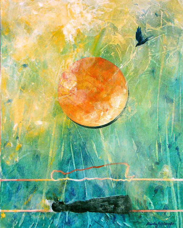 Raven Poster featuring the painting Dreaming Dreams by Sandy Applegate