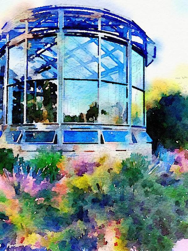 Greenhouse Poster featuring the digital art Driftwood Greenhouse by Wendy Biro-Pollard