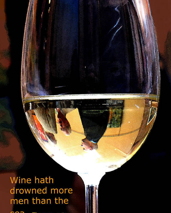 Wine Poster featuring the photograph Drowning by Ian MacDonald