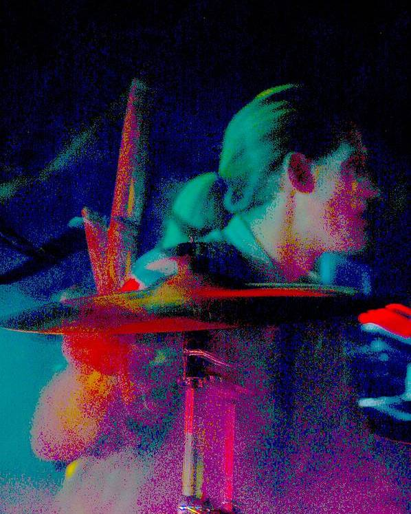 Music Poster featuring the photograph Drummer by Tommy Simpson