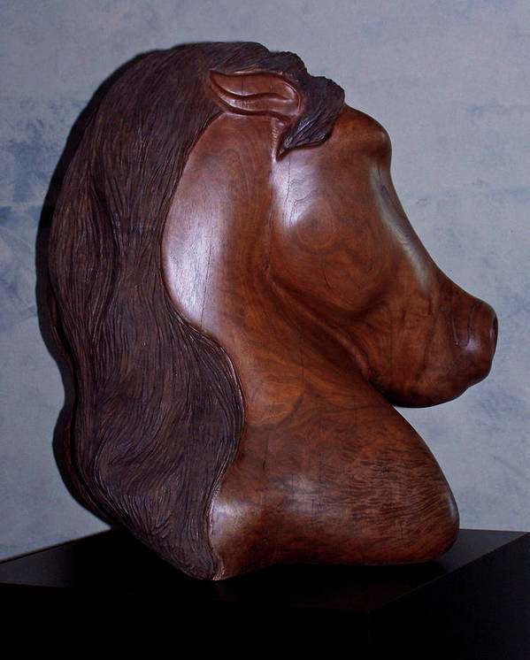 Sculpture Poster featuring the sculpture Dual Equine by Lonnie Tapia