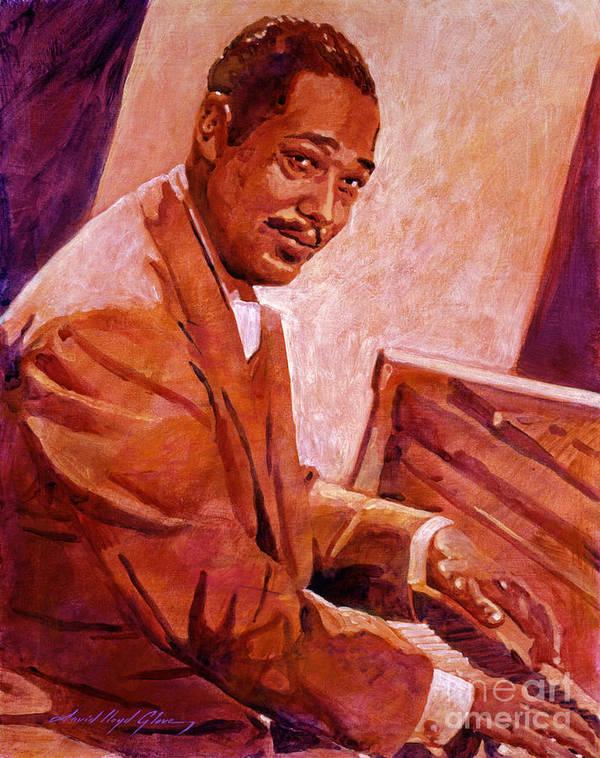 Duke Ellington Poster featuring the painting Duke Ellington by David Lloyd Glover