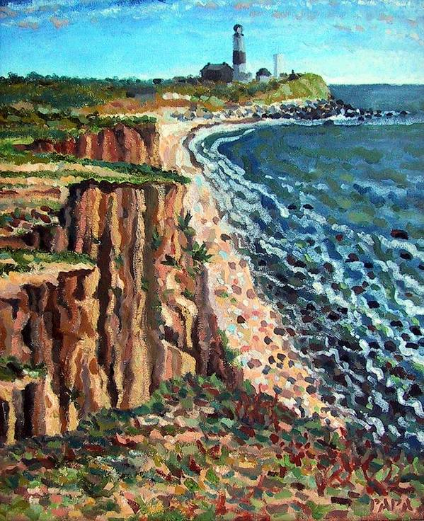 Dunes Poster featuring the painting Dunes at Montauk by Ralph Papa