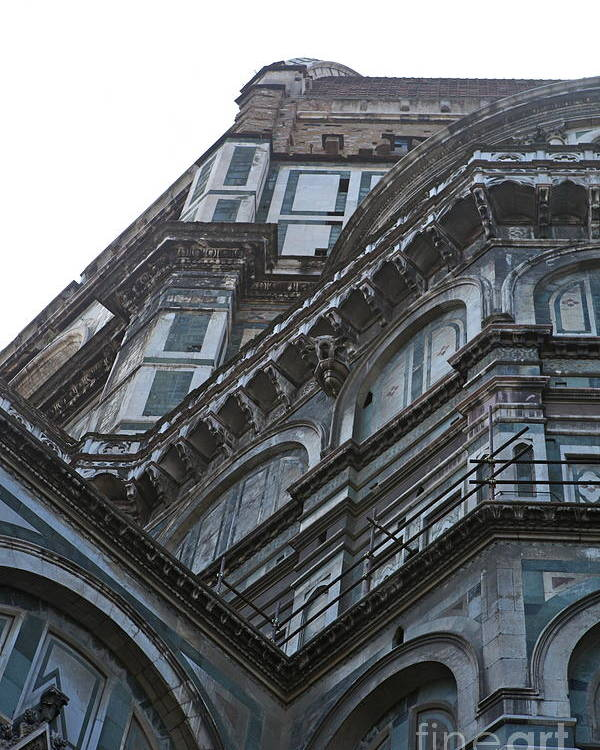 Architecture Poster featuring the photograph Duomo In Florence by Nadine Rippelmeyer