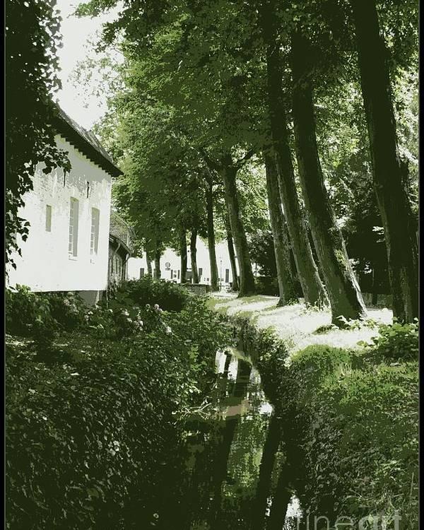 Dutch Poster featuring the photograph Dutch Canal - Digital by Carol Groenen