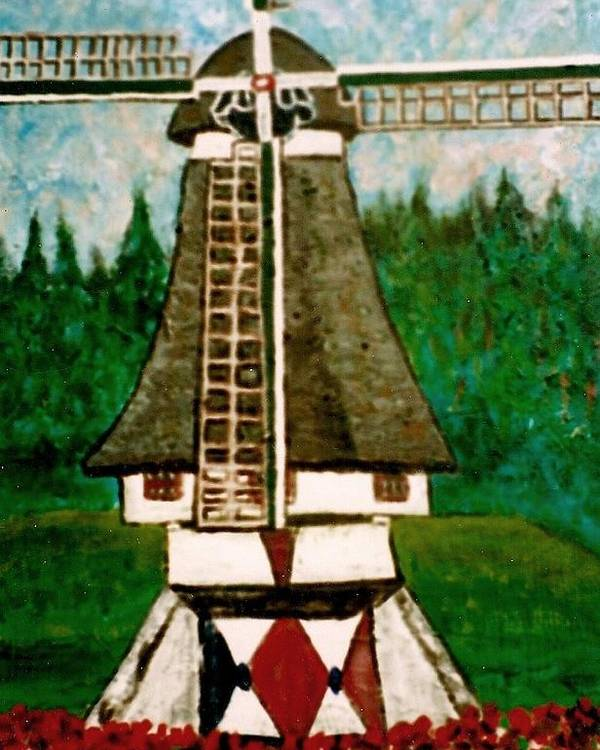 Holland Poster featuring the painting Dutch Windmill by Richard Hubal