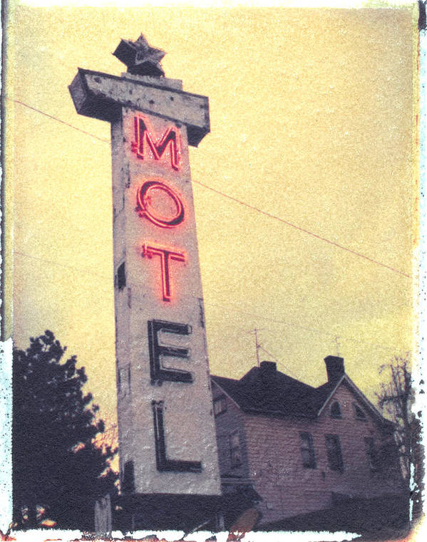 Polaroid Poster featuring the photograph Dying Neon by Steven Godfrey